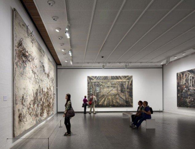 Installationsview: Fra udstillingens første del; Landskab. Mytologi og realitet. (Foto: Poul Burchard/Brøndum & Co)