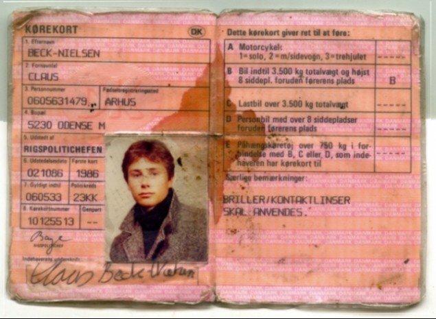 Claus Beck-Nielsens gamle kørekort (Das Beckwerk / Claus Beck-Nielsen 1963-2001)