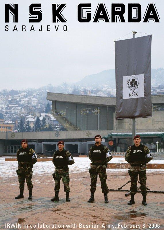 IRWIN in collaboration with Bosnian Army Festival Sarajevo Winter, 8. 2. 2006. Pressefoto.