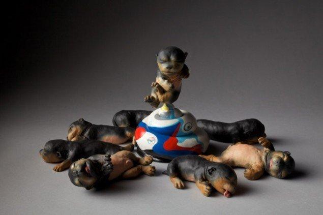 Murakami puppies, 2010. Pressefoto.