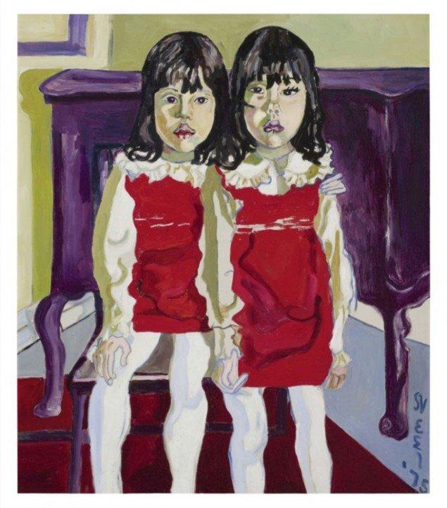 The De Vegh Twins, 1975. Et billede om fordoblinger og gentagelser i både motiv og farvebrug. (Pressefoto)