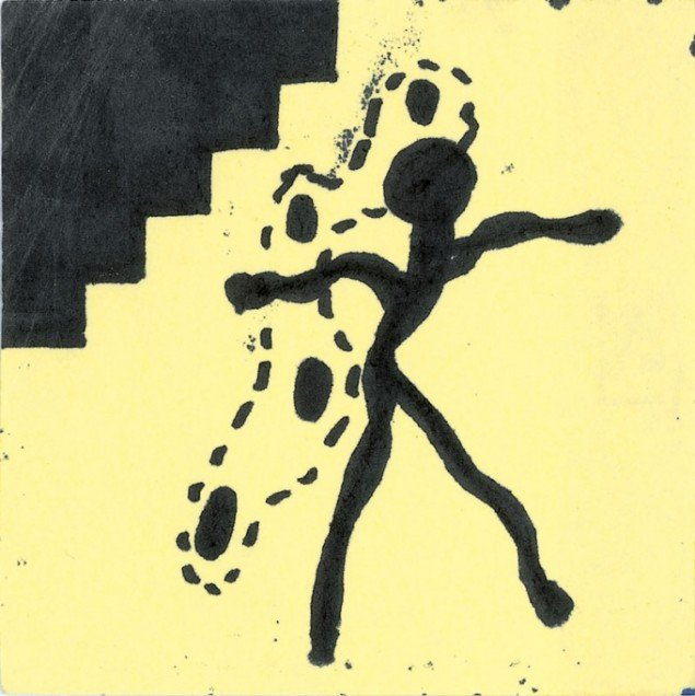 David Lynch, untitled, undated. Marker on paper. Collection of the Fondation cartier pour l'art contemporain, Paris.