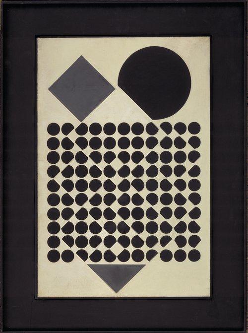 Victor Vasarely: Kassiopeia III, (1958). Foto: Fyns Kunstmuseum.
