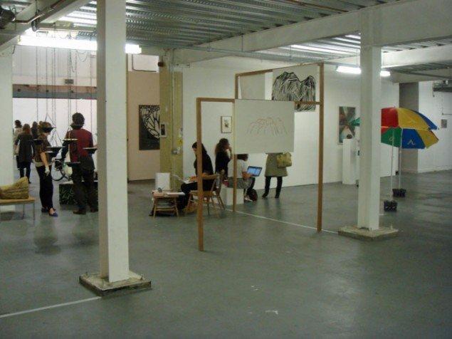 Fra venstre: Bristol's Work Projects og Norma Mangione Gallery fra Torino (foto: C. Gravesen)