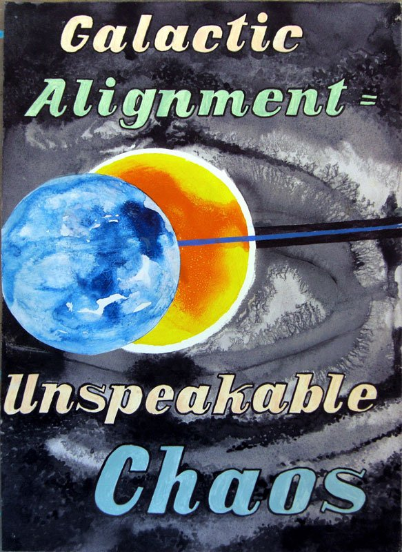 Galactic alignment = Unspeakable chaos, 2010. Courtesy Martin Asbæk Gallery