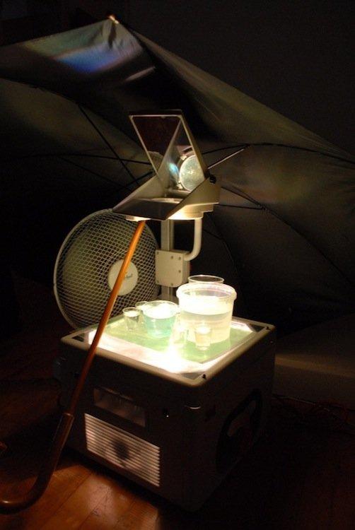 Den praktiske del af Noyes' lysinstallation. Foto: Ole Bak Jakobsen.