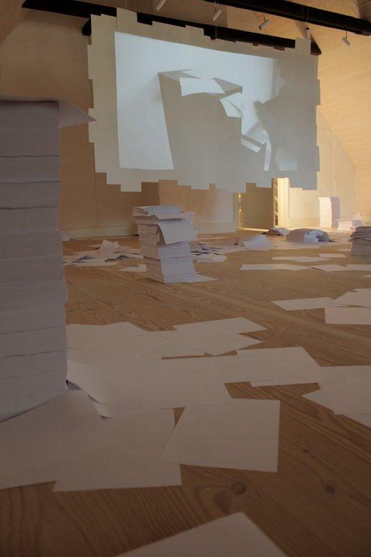 Udsnit af Archive installationen. Foto: Rasmus Albertsen