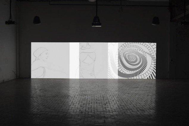 Ann Lislegaard: Left Hand of Darkness (after Ursula K. Le Guin) 2008, 3D animation, med 3 lyd-loops (det samlede loop er på 45 dage).