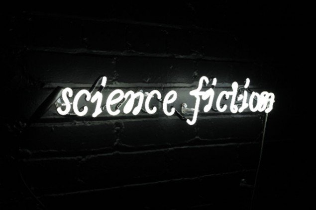 Ann Lislegaard: Science Fiction_3114, 2009. (Lyd- og lysinstallation). (Foto: Anders Sune Berg)