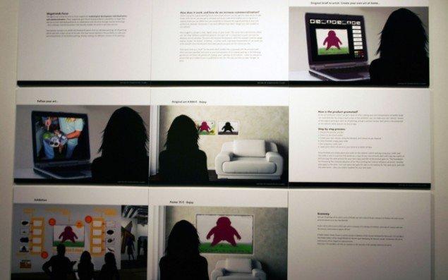 Nedko Solakov har fået reklamefirmaet IB Gruppen til at lave en model for en kampagne til forbedring af salg af kunstnerens værker. Foto: Krisitan Handberg.