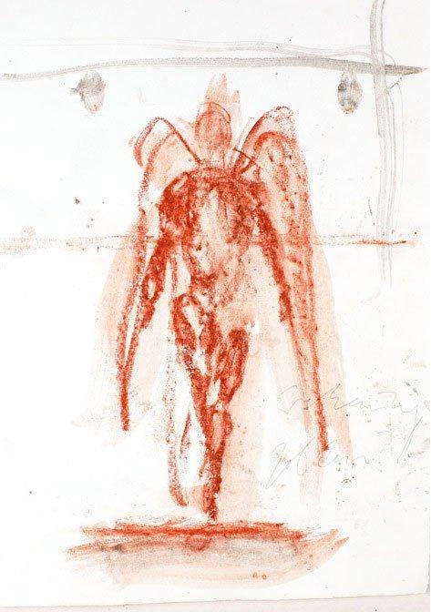 Christian Lemmerz: Jailbird, skitse , 2006. (Foto: KØS)