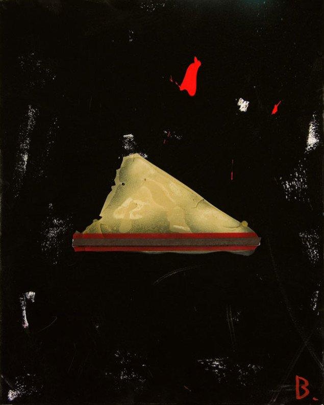 Jens Birkemose: U.T. trekant (II), 2010, 50x40 cm. Foto: Galleri Christoffer Egelund.