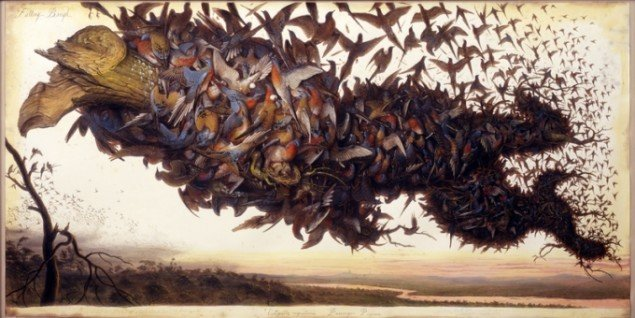 Walton Ford: Falling Bough, 2002.