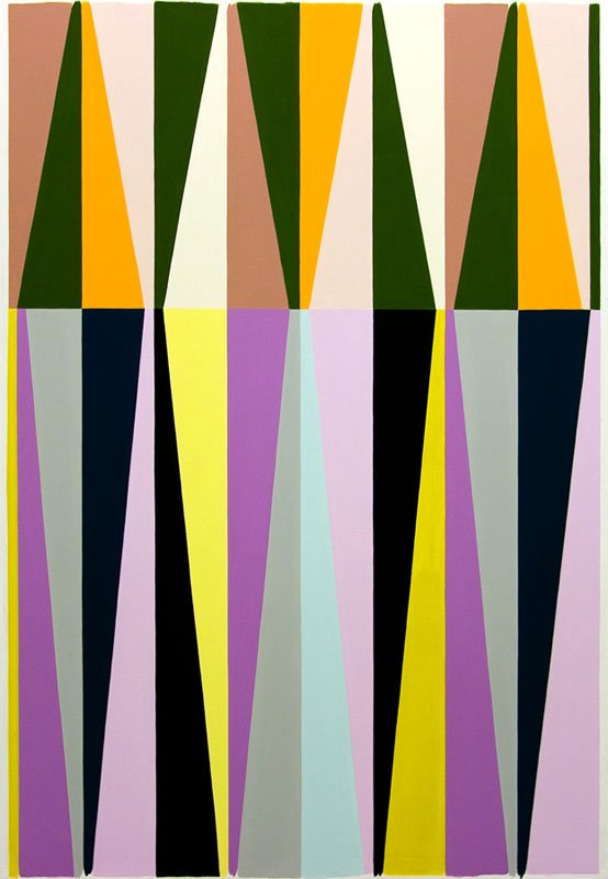 Malene Landgreen: Den hvide klovn hat II (udsnit), 2010, 195x165 cm. Foto: Galleri Christoffer Egelund.