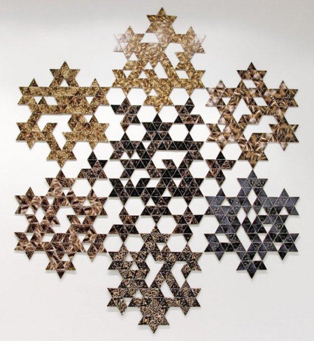 Søren Taaning: Hairy Snowflake, 2010, 300x300 cm. Foto: Galleri Christffer Egelund.