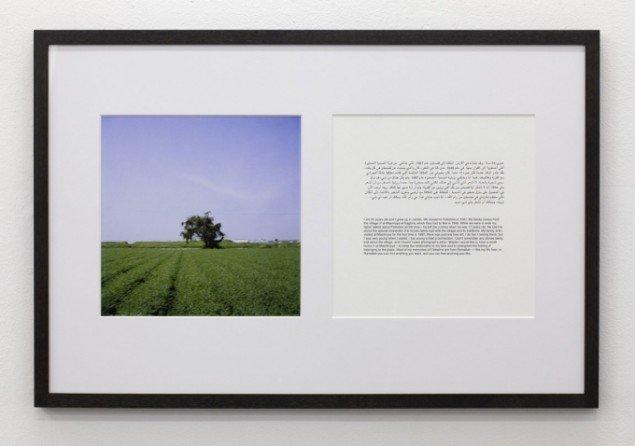 Erindringer om familiens tabte landsby fremmanes i foto og tekst. Memories of Imagined Places, Maj Hasager, 2010 (udsnit). (Foto: Anders Sune Berg)