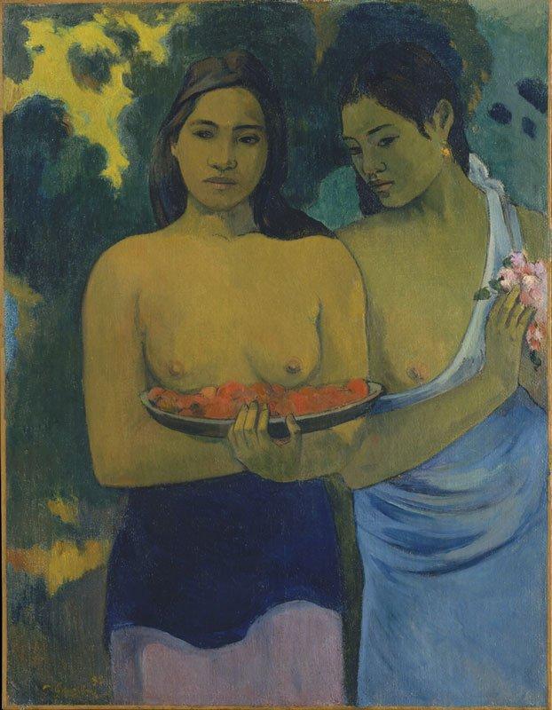 Paul Gauguin: Two Tahitian Women 1899, The Metropolitan Museum of Art, New York. Gift of William Church, Osborn, 1949.