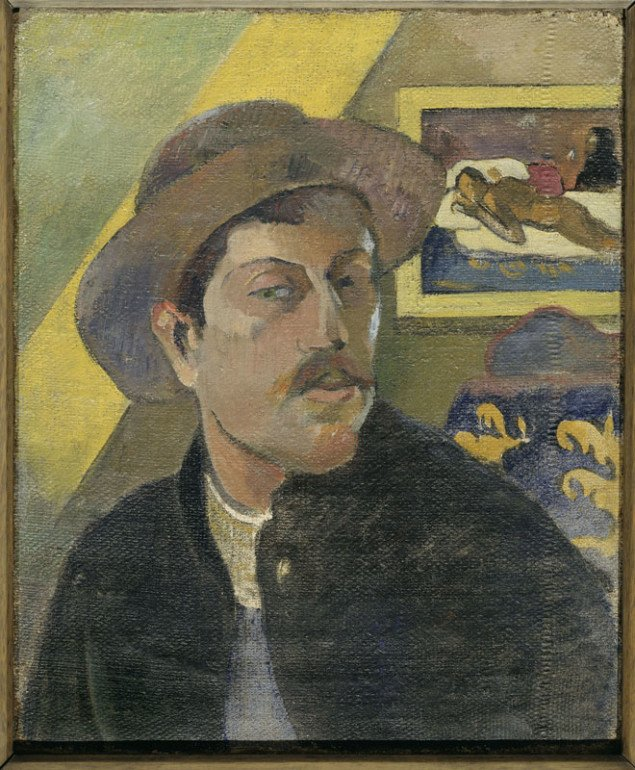 Paul Gauguin: Self-portrait with Manao tupapau 1893-4, Musée d'Orsay, Paris Foto: © RMN (Musée d'Orsay) / Hervé Lewandowski