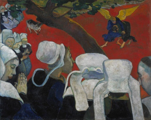 Paul Gauguin: Vision of the Sermon (Jacob Wrestling with the Angel) 1888, National Gallery of Scotland, Edinburgh.