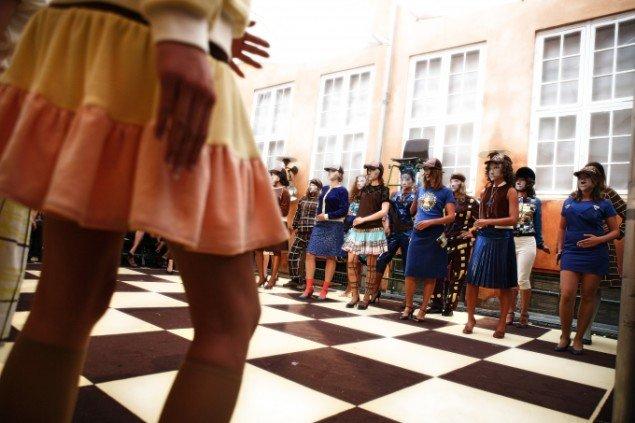 Check Mate modeshow forår/sommer 2007. Design: Anna Gulmann. Foto: Nicolai Svane.