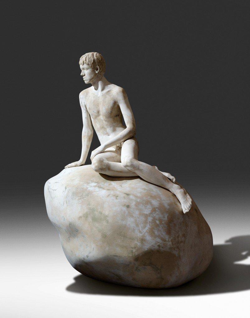 Elmgreen & Dragset: gipsmodel til skulpturen Han, 2012. Foto: Anders Sune Berg
