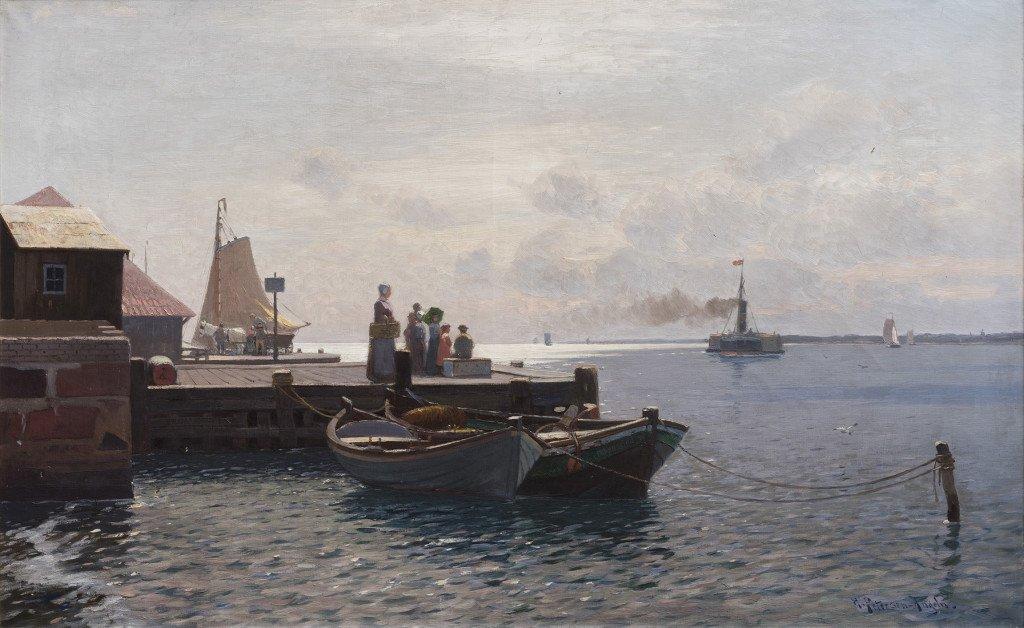 Heinrich Petersen-Angeln: I Egernsund. 1893. Tilh. Museumsberg Flensburg