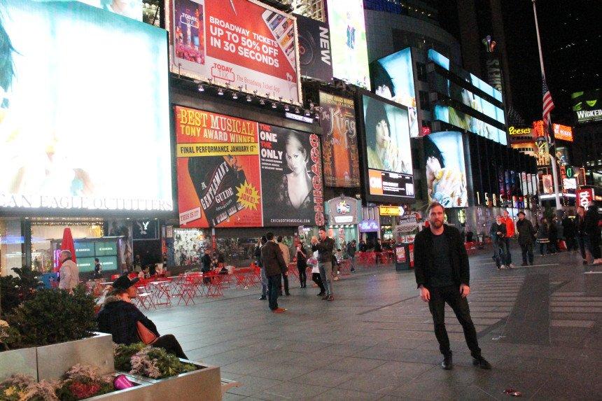 Når reklamerne ved Times Square slukker