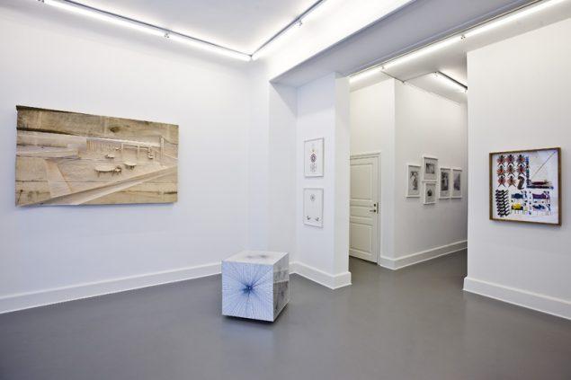 bendixen contemporary ert. Her ses værker af Devin Troy Strother, Lena Johansson, Søren Assenholt og Eva Larsson. Foto: Per Johansen.