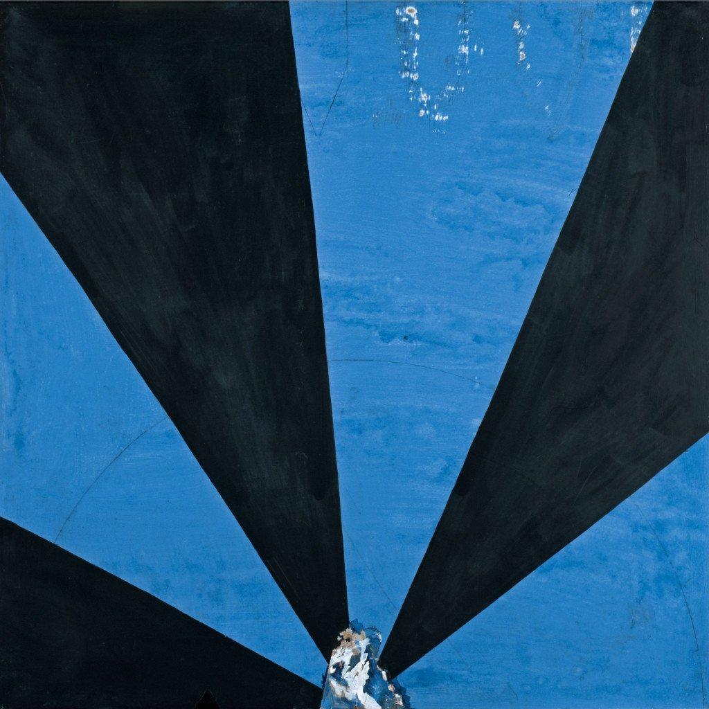 Uden titel, 1967, olie på masonit, 122 x 122 cm. Fonden til udsmykning af Herning Handelsskole. Fotograf Lars Bay
