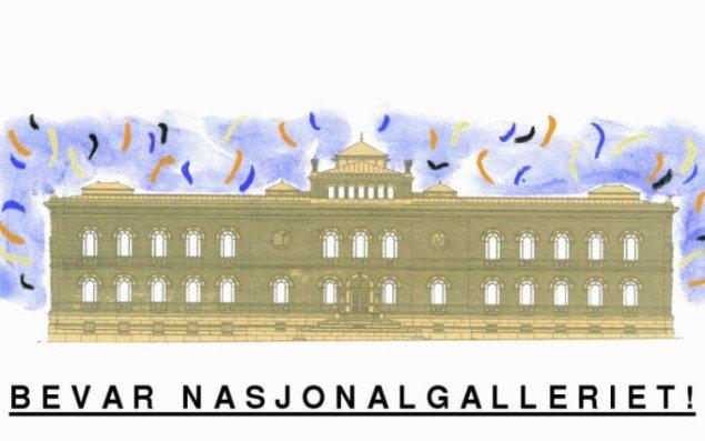 Aktivister mod lukning af Nasjonalgalleriet