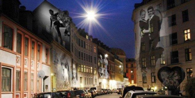 Lysinstallation i Københavns gader