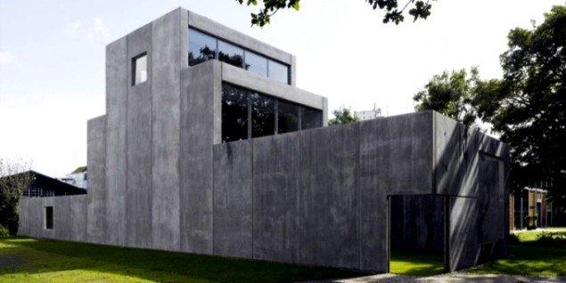 Funktionelle betonkasser på Krabbesholm