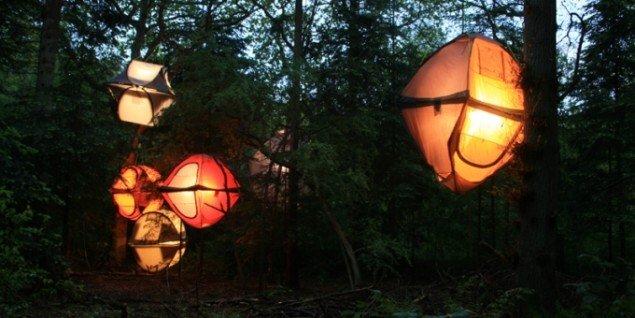 Telte som lysinstallationer