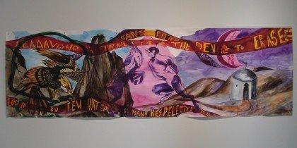 Farverige akvareller af Adam Saks på ARoS