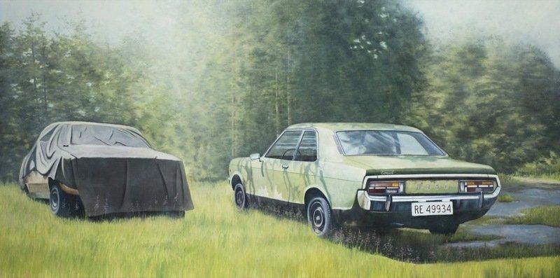 Maleren og hans bil
