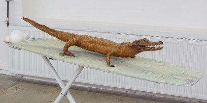 En alligator på et strygebræt