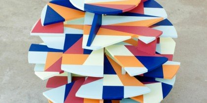 Stringent kunst i douche farver