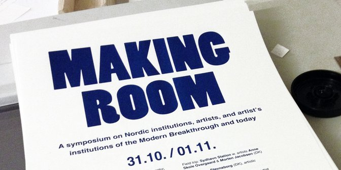 Symposium om kunstnerdrevne institutioner