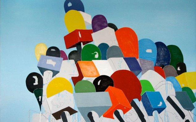 Grafisk maleri og malerisk grafik af Anne Marie Ploug