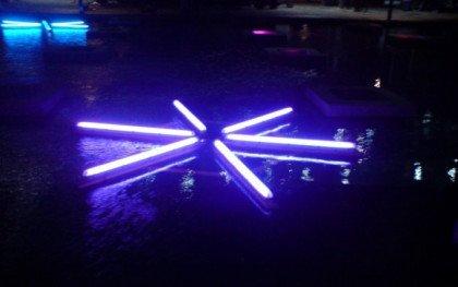 Illuminerende lyskunst i Ørestaden