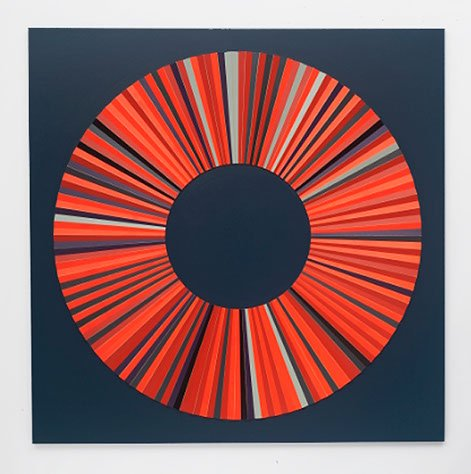 Jay Gard: Farbekreis 2015, 150 x 150 cm. Pressefoto