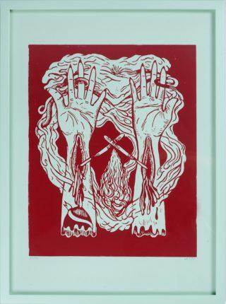 Dorte Naomi: Heartattack (Dying Alive), 2013, 44 x 60 cm © Dorte Naomi
