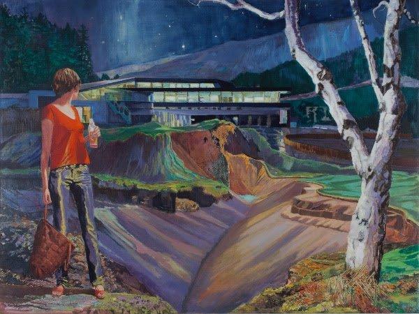 Jesper Palm:Trespassing, Oil on canvas 200 x 150 cm. Pressefoto