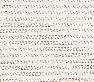 Uden titel, 1968. Tusch på papir. Foto: Ole Akhøj