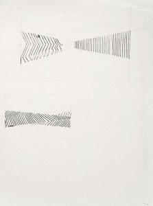 Uden titel, 1968. Blyant og tusch på papir. Foto: Ole Akhøj