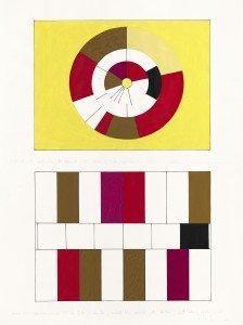 Uden titel, 2007-08. Gouache, tusch og blyant på papir, skitse til værket Magnet. Foto: Anders Sune Berg