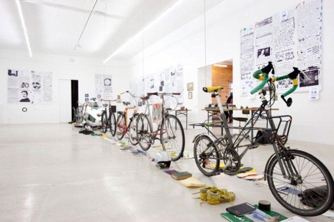 Goodiepal: EL CAMINO DEL HARDCORE, installationsview ved Andersen's Contemporary, 2013.