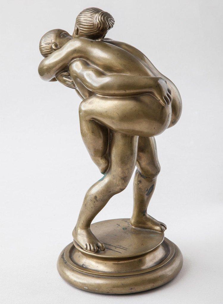 Kai Nielsen: Venus og Paris, Kærlighedspar, 1917. Statens Museum for Kunst.