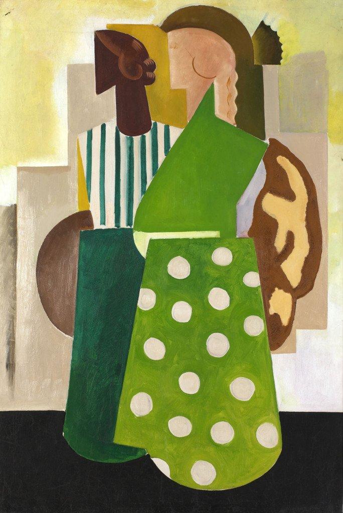 Olaf Rude: Komposition med sort og hvid kvinde, 1918. Foto: Simon Lautrup