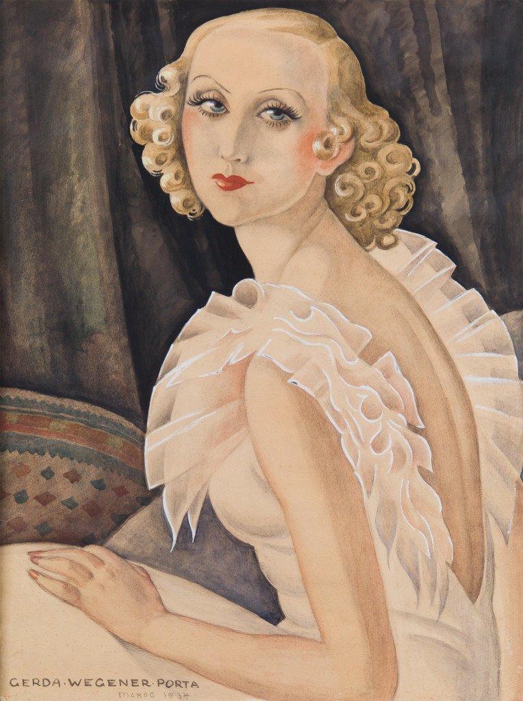 Gerda Wegener: Ukendt titel (Portræt af Maggi Baaring), 1934. Foto: Morten Pors